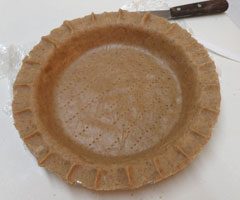 Gourmet Almond Meal Crust before being baked.
