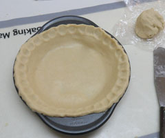 traditional pie crust before it has been cooked.